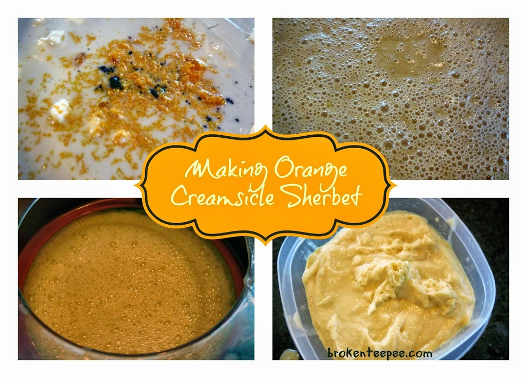 Making Orange Creamsicle Sherbet, #SilkAlmondBlends, #shop, #cbias