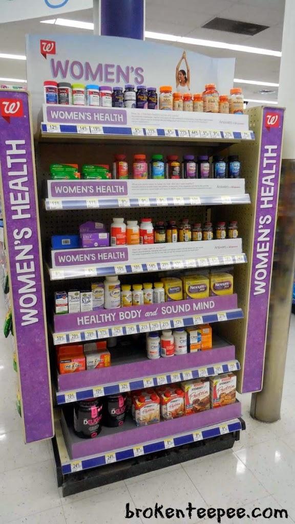 Women's Health end cap at Walgreens, Walgreens, #HerHealth, #shop, #CollectiveBias