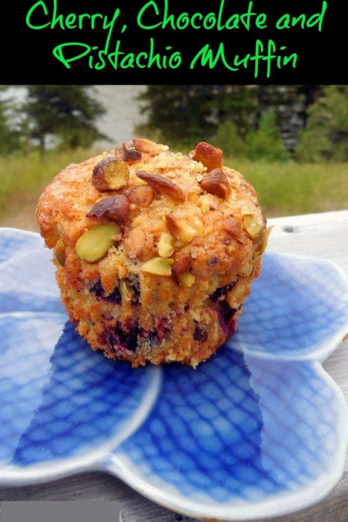 cherry pistachio muffins, muffins recipe