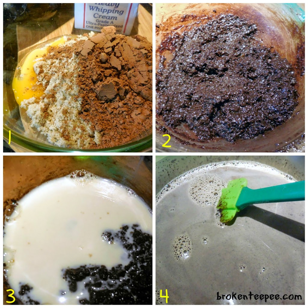 steps to making chocolate goat's milk ice cream, Reddi-wip®, #BerryJoyfulSweeps, #spon