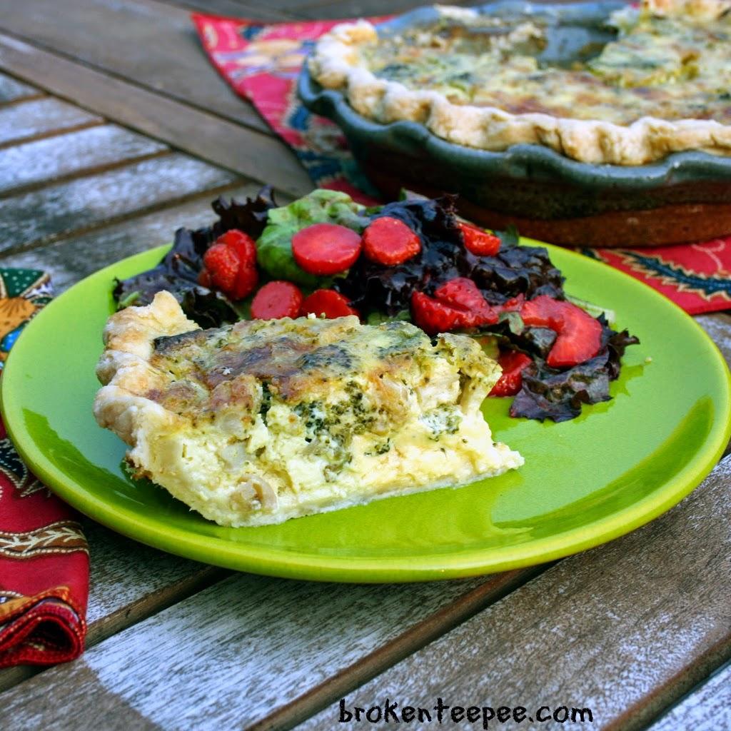 Vegetarian Recipe: Roasted Broccoli and Cauliflower Quiche Recipe