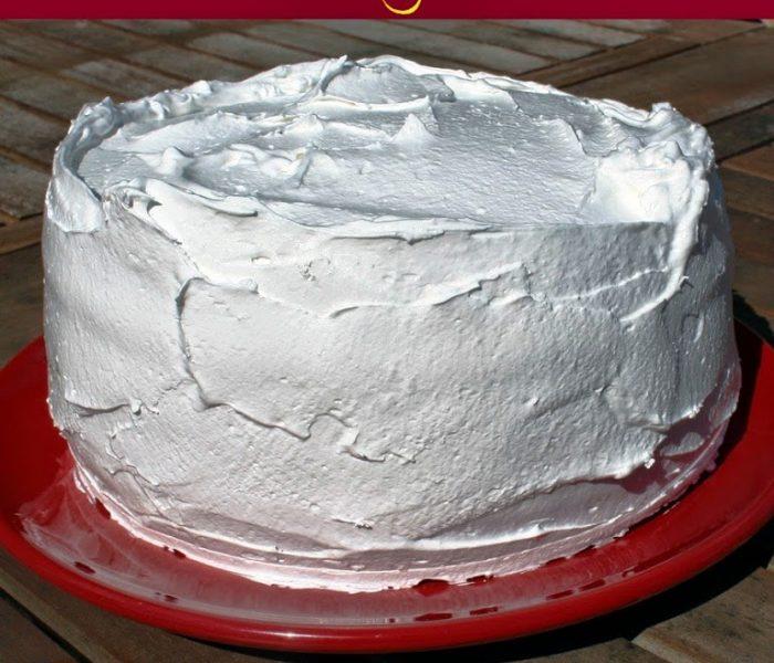 My Birthday Cake – Vanilla and Strawberry Layer Cake with Lemon Curd and Italian Meringue
