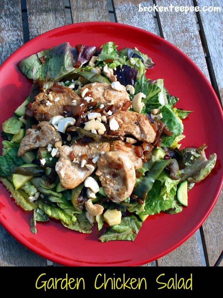 Garden Chicken Salad plated