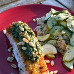 Salmon and Chilean Sea Bass with Eggplant Pesto – Recipe
