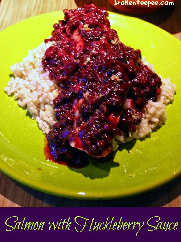 Salmon with Huckleberry Sauce, #NutrishforCats, #MC, #Sponsored