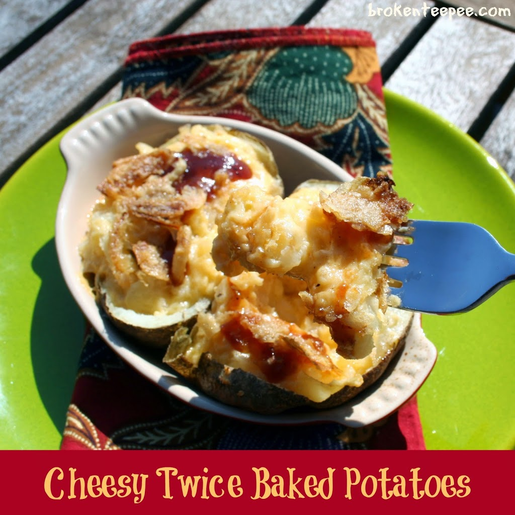 Cheesy Twice Baked Potatoes, Kraft on Rollback, #RollIntoSavings, #shop, #cbias
