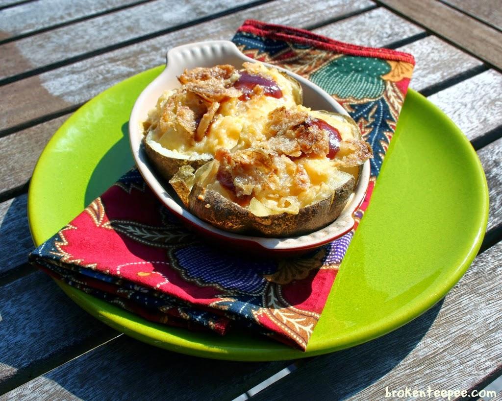 Cheesy Twice Baked Potatoes, Kraft on Rollback, #RollIntoSavings, #shop, #cbias