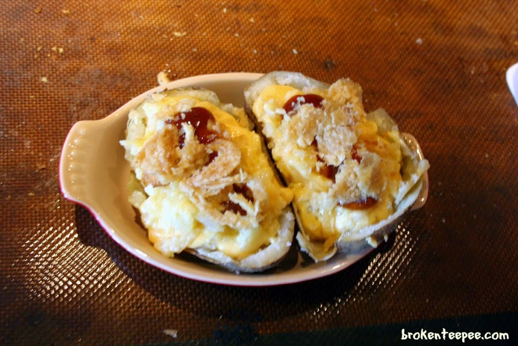 cheesy twice baked potatoes before baking, Kraft on Rollback, #RollIntoSavings, #shop, #cbias