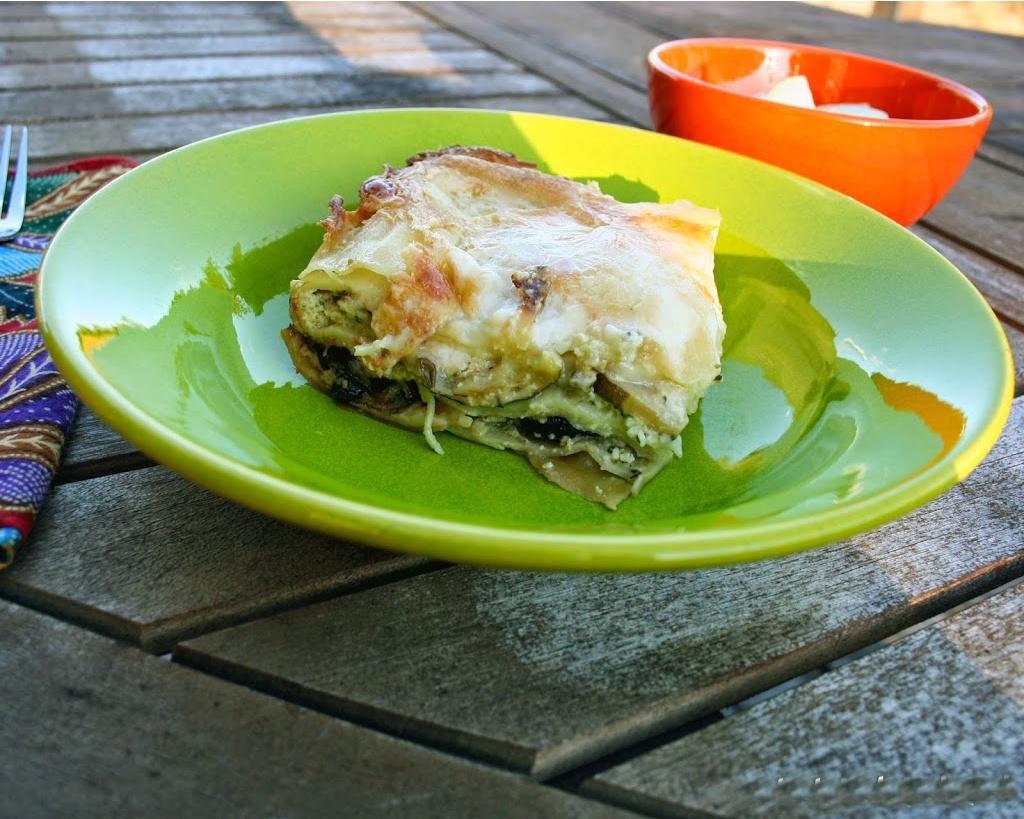 plated lasagna