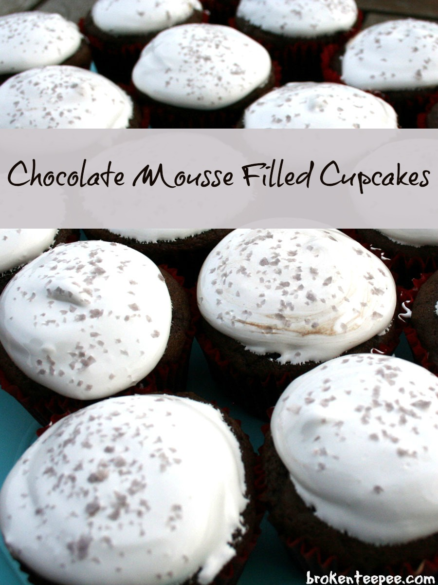 Chocolate Mousse Filled Cupcakes Recipe Chocolate Mousse Filled