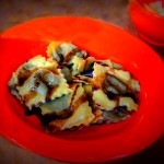 Eggplant Ravioli with a Fig Balsamic Reduction – Recipe