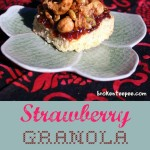 Baking for the Firemen: Strawberry Granola Bars