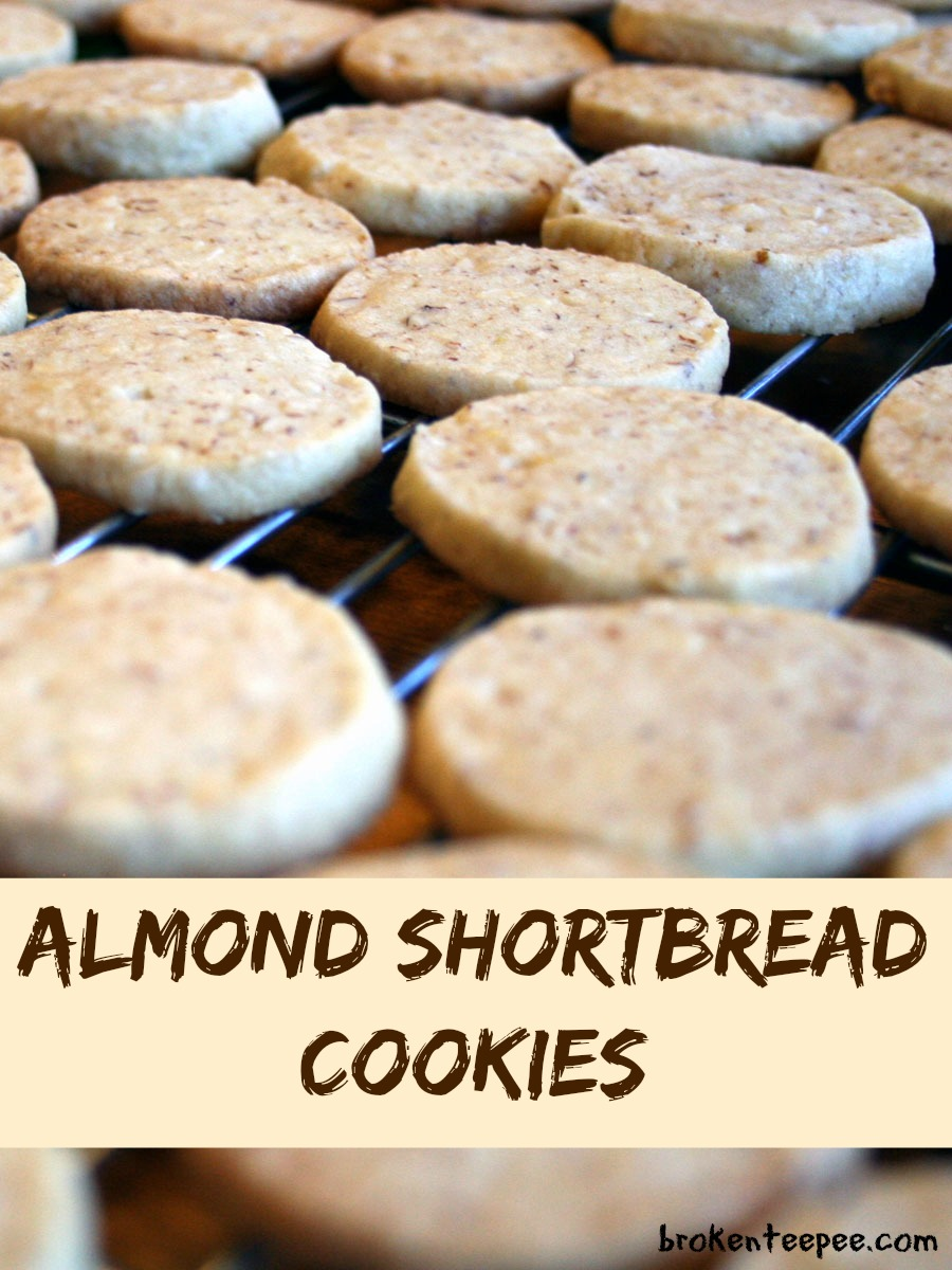 Baking for the Firemen – Almond Shortbread Cookies
