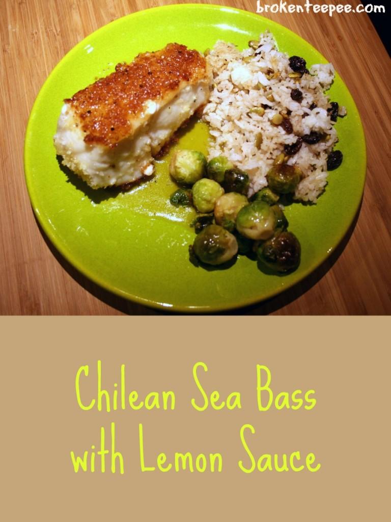 Chilean Sea Bass with Lemon Sauce, Chilean Sea Bass recipe