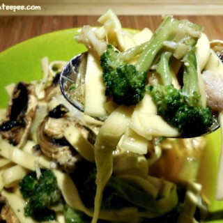 Crab with Broccoli and Noodles in a Lobster and Saffron Broth – Recipe