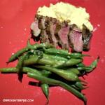 Venison Recipe – Marinated Venison Loin on Cheesy Polenta
