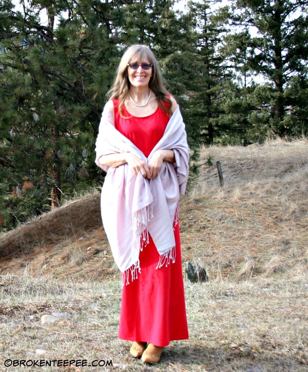Everyday Knit Dress from Monroe and Main with shawl
