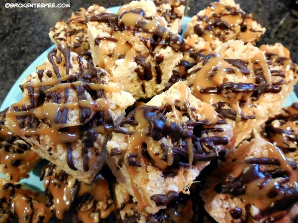 Caramel Stuffed Rice Krispie Treats – a Special Occasion Treat