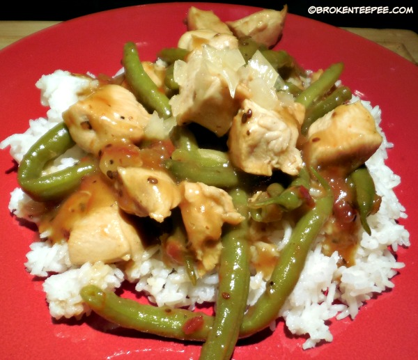 chicken and beans in Sesame Ginger Meal Builder