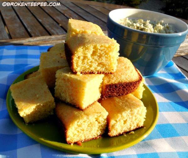 cole slaw and corn bread