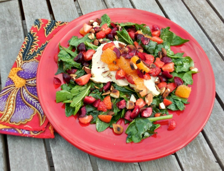 A Summer Salad Recipe – Poached Chicken with Fruit Salsa