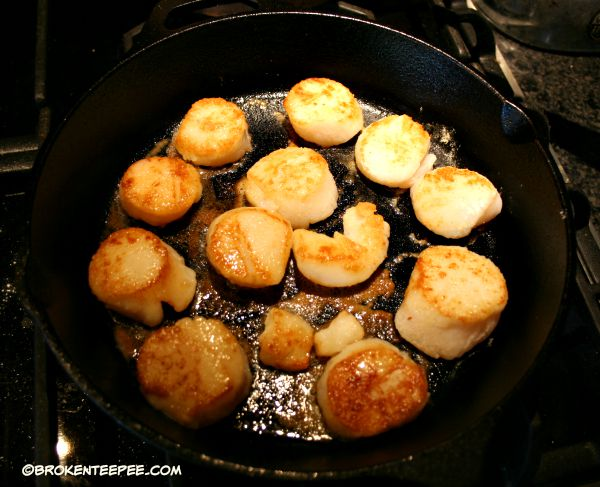 cook scallops, Scallops with Cherries and Pumpkin Seeds, Anderson Seafoods, sponsored