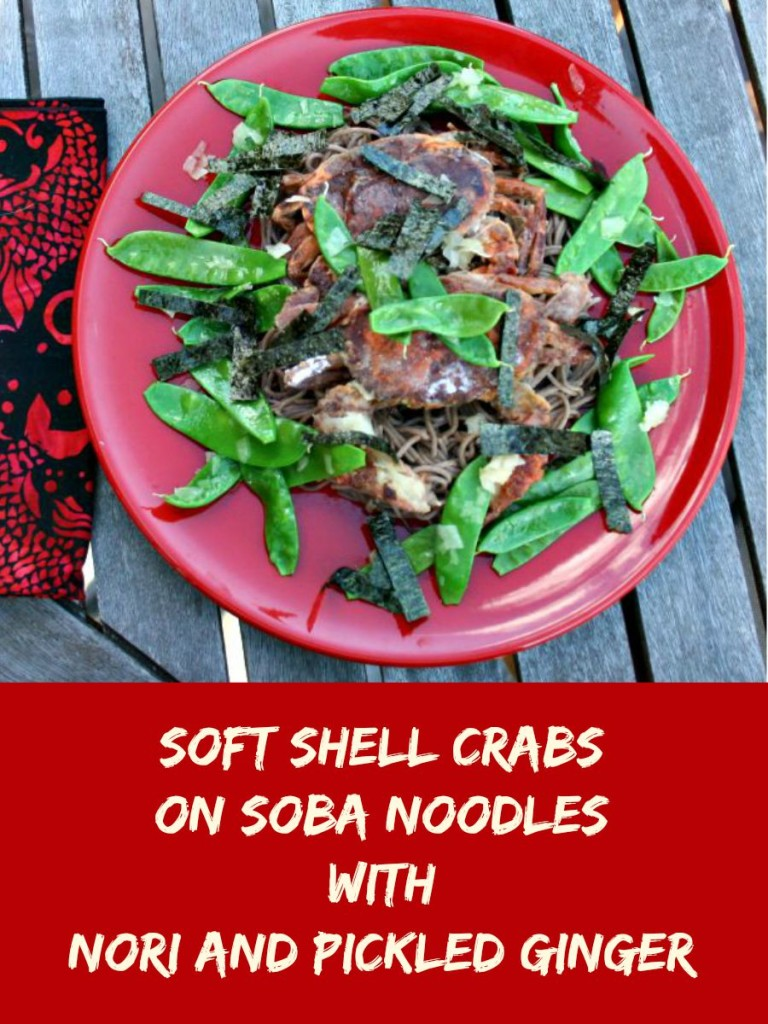 Soft Shell Crabs on Soba Noodles with Nori and Pickled Ginger, Try the World, subscription box, sponsored