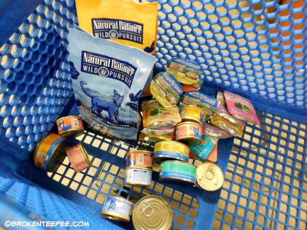 Cart full of Natural Balance, PetSmart, Natural Balance, #PetSmartStory, #sponsored