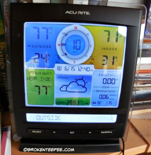 AcuRite Color Display, info as of 8/6/15, #AD