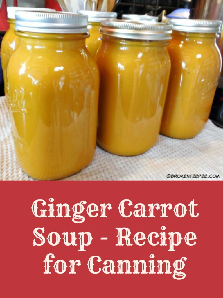 Ginger Carrot Soup for Canning