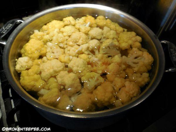 blanche cauliflower