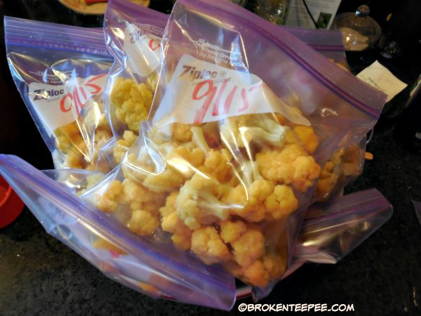 package cauliflower for the freezer