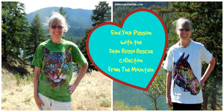 The Mountain, Funky Horse pet t shirt, Watchful Cat pet t shirt, Dean Russo Rescue Collection, #MountainArtwear, #sponsored