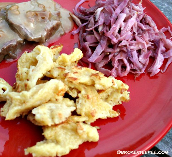 Fall Recipes: Pickled Red Cabbage and Spaetzle