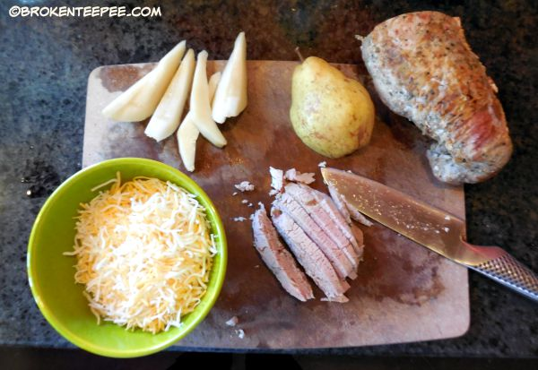 mise en place Pork Pear and Cheese Roll Ups, Smithfield Marinated Pork. Garlic and Herb Pork Loin, #weavemade, #GetBackToPork, #DeliciousInMintues, #Ad