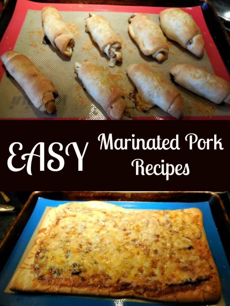 Smithfield Marinated Pork. Garlic and Herb Pork Loin, Barbecue Pork Pizza, Pork Pear and Cheese Roll Ups, #weavemade, #GetBackToPork, #DeliciousInMintues, #Ad