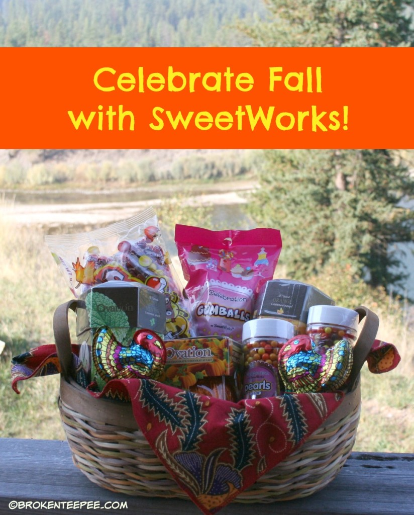 SweetWorks, candy in a basket, #SweetWorksAutumn, #sponsored