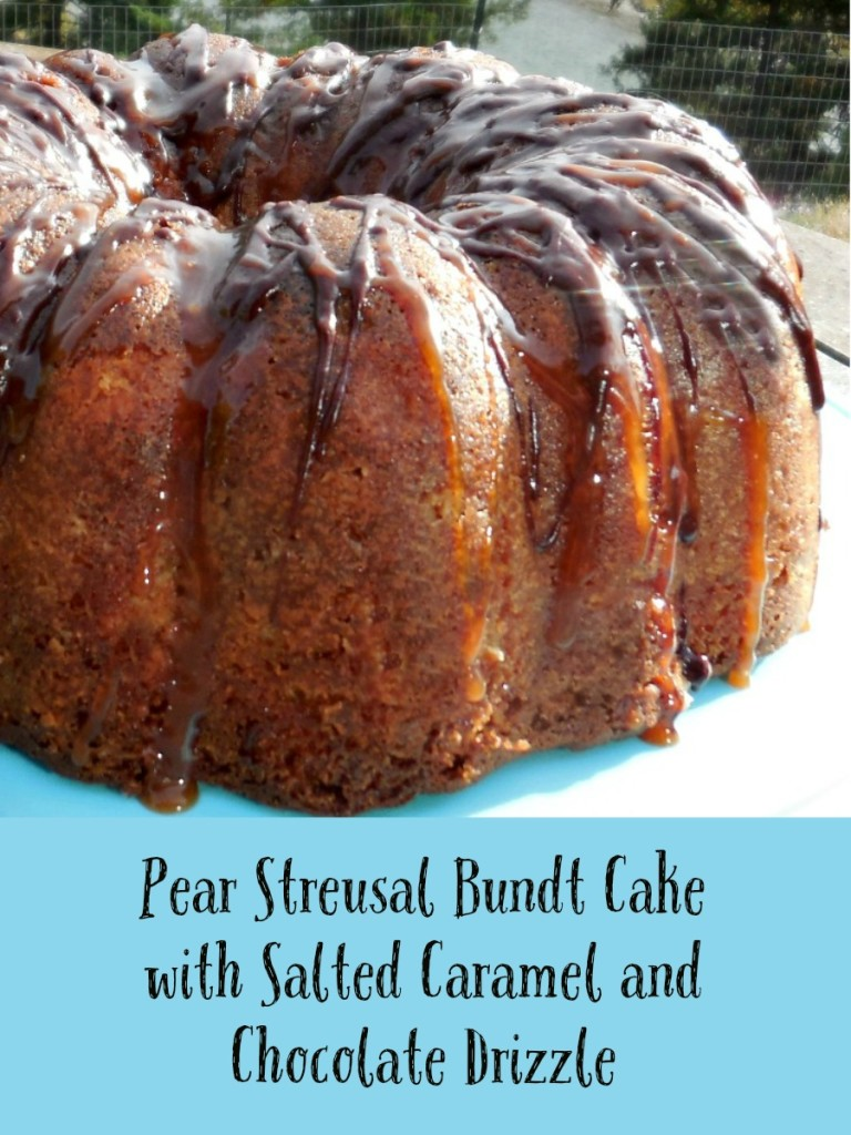 Pear Recipe: Pear Struesal Bundt Cake with Salted Caramel