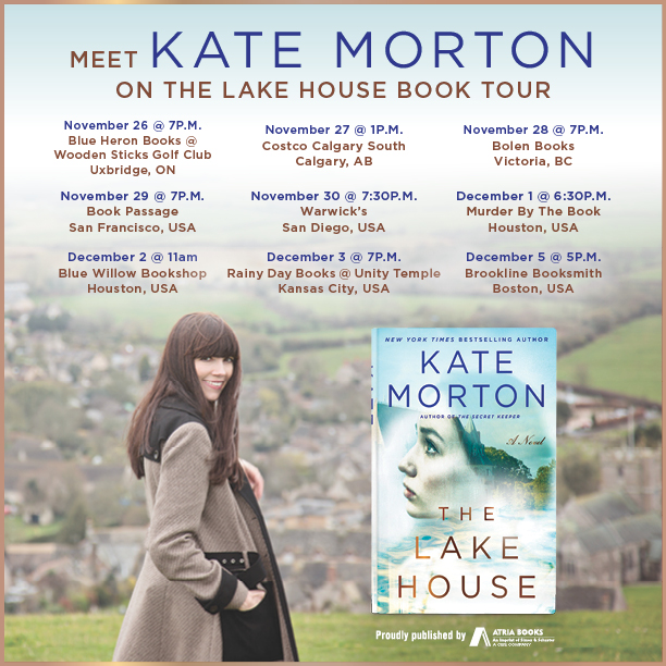 Kate Morton, Lake House Tour dates