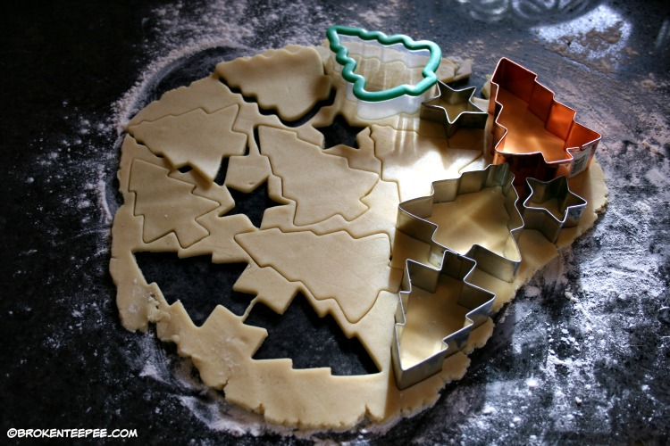 cutting out classic sugar cookies