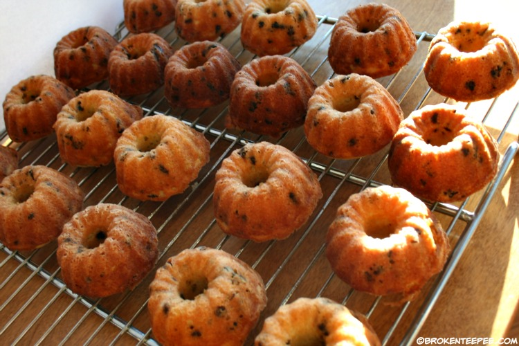 Cherry 7UP®, New Year's Dessert, cool baked mini bundt cakes on a wire rack, #BrighTENtheSeason, #CollectiveBias, #ad