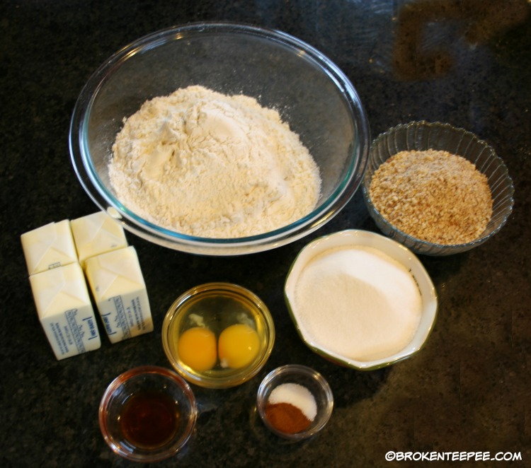 Holiday cookies, Linzer tarts, mise en place