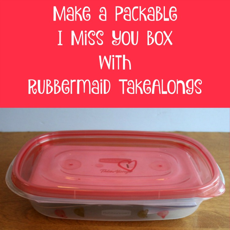 Rubbermaid TakeAlongs, Walmart, Share the Holiday, Giving the Gift of Thanks, Packable I Miss You Box, #ShareTheHoliday, #CollectiveBias, #AD