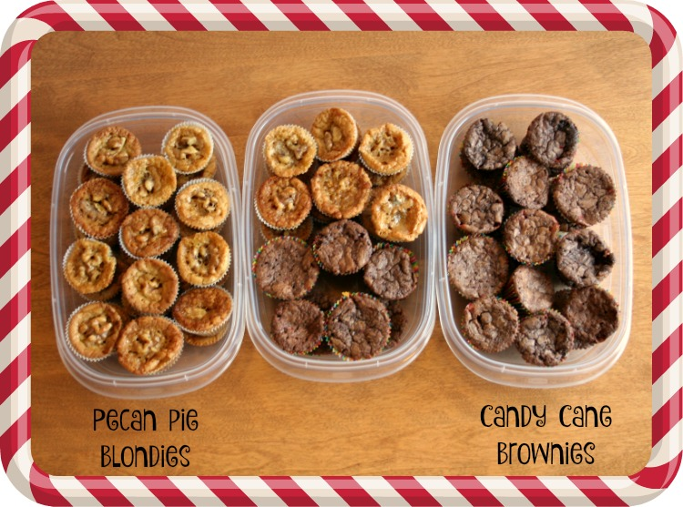 Rubbermaid TakeAlongs, Walmart, Share the Holiday, Giving the Gift of Thanks, Candy Cane Brownies, Pecan Pie Blondies, #ShareTheHoliday, #CollectiveBias, #AD