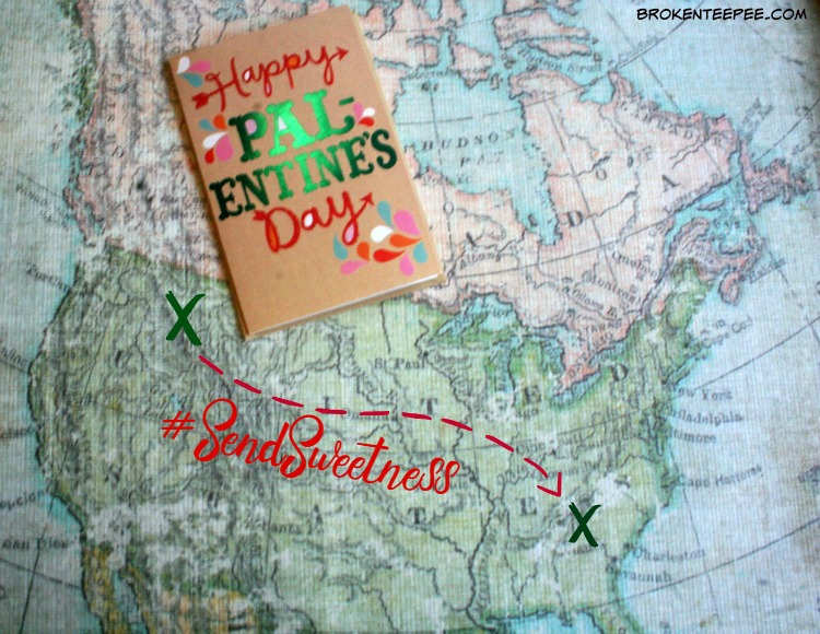 American Greetings®, M&M's® Strawberry, DOVE®, Pal-entine's Day, #SendSweetness, #ad