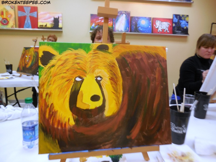 fun things in Mis soula, Painting with a Twist, Bear with Me
