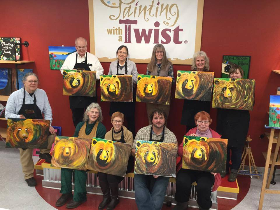 fun things to do in Missoula, Painting with a Twist, Bear with Me
