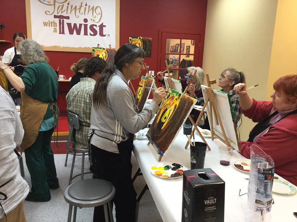 fun things in Missoula Montana, Painting with a Twist, Bear with Me, painting