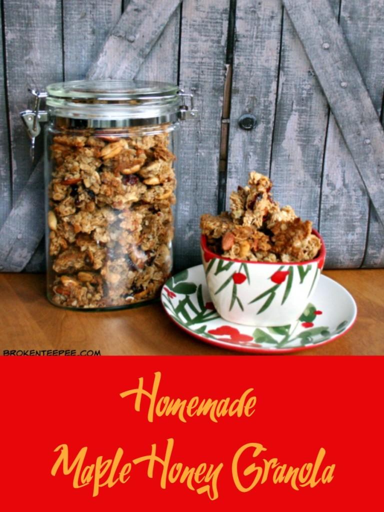 Maple Honey Granola, homemade granola recipe, homemade granola