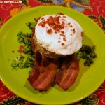 Risotto Leftovers Recipe – Risotto Cakes with Bacon and Eggs